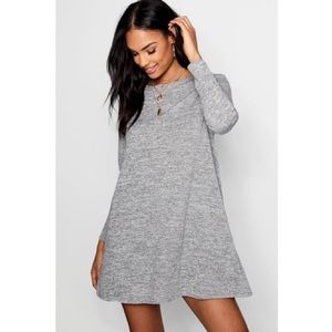 Grey knit sweater dress NWT